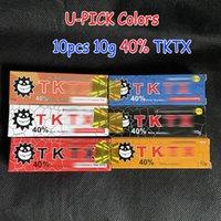 Оригинальные 10 шт. TKTX Tattoo Cream 40% перед постоянным пронзительным макияжем Microblading бровей губы тела кожи поставщик 10G