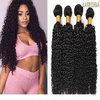 Необработанные 7А бразильские вьющиеся волосы девственницы 4 барабаны перуанского малайзийского индийского камбоджина монгольские вьющиеся мягкие наращивания волос человека