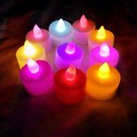 Romantik Işık Yayan LED Elektronik Mum Yedi Renk Dumansız Mum Işık Yanıp Sönen Prove Express Doğum Günü Düğün Oyuncak