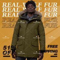 Moda Tasarım Erkekler Kış Mont Aşağı Ceketler Homme Açık Jassen Büyük Kürk Kapüşonlu Fourra Ceket Doudoune Parka Klasik Sıcak R Pamuk Kalınlaşmış