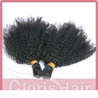 Peruano Afro Kinky Curly Bulk Braiding Hair para al Por Mayor 100% HUMANO HUMANO MUJER ROTY HAY EXTENSIONES NO ADJUNTO PANEL DE VISULO DE PANTALLO