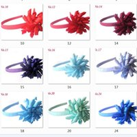 Children's Curlers Ribbon Corker Alice Hair Band Sticks Bows Flowers Hairband Barrettes Korker Plastic Headband Girl Headwear Accessories 60pcs PD009