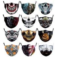 Logotipo feito sob encomenda Máscara de Halloween Palhaço Pirata Abóbora Fantasma Elemento Mask Respirável e Dustproof Vida Aourmuff
