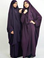Ropa étnica Ramadán One Piece Orer ABAYA Vestido Jilbab Hijab Vestidos Kaftan Túnica Con Capucha Cubierta Cabeza Largo Khimar Modest Modest Islam Dubai Ropa