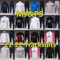 21/22 Messi Mbappe Futebol Tracksuits MJ HAKIMI SERGIO Ramos Maillots de Football Jersey Jacket 2021 2022 Marquinhos Verratti Jogging Survedem Sweater