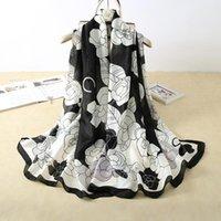 العلامة التجارية 180x90 سنتيمتر وشاح الحرير جودة عالية فولار باندانا طويل لراغ شالات و wrpas الشتاء الرقبة والأوشحة سيدة الحجاب 2021