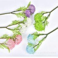 Özel Teklif Plastik Yapay Çiçek Düğün Boquet Tutucu Düğün Yapay Çiçek Fotoğraf Prop Milan Meyve Topu Flowe