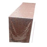 30 * 275cm Table de table Runner Gold Silver Susque Table de table Spartincly Bling pour la décoration de mariage Fournitures Nappe