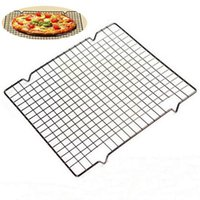 Other Bakeware Carbon Steel Wire Grid Cooling Tray Cake Food Rack Baking Pizza Barbecue Kitchen Bread Cookie Shelf Holder Oven Biscuit R8Z8