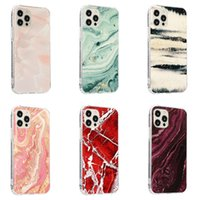 Luxury Marble Pattern Phone Cases For Iphone 12 11 Pro Max Xr Xs 7 8 Plus Se2020 Fashion Anti-fall Shockproof Protective Cover Shell