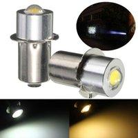 Cuentas de luz P13.5S PR2 1W LED para bicicleta interior Lámpara de antorcha Bombilla Bombilla Alto Brillo 90Lumen DC3-18V Cálido / blanco puro