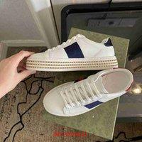 2021 Бренд мужские и женские повседневные туфли дизайнерские кроссовки Кроссовки Кристаллические Обувь Бич Вышивка Мода Шнурки Высококачественная Кожаная коробка пояса