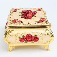 Grande lusso colorato smalto gioielli set casella collana braccialetto di stoccaggio cassa casa decorazione cinese artigianale cloisonne filigrana gioielli imballaggio regalo di nozze