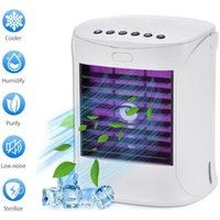Car Air Freshener 3 In 1 Conditioner Fan LED Portable Mini Mute Purifier Humidifier Cooler For Home Office Conditioning