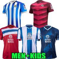 Männer Kinder Espanyol 21 22 Echte Sociedad Home Fussball Trikots 2021 2022 Portu Willian J. Silva Oyarzabal Merino Zubeldia Isak Puado Embarba Wu Lei Football Shirts