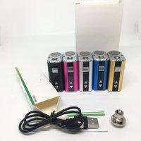 Мини 10 Вт Аккумулятор 1050 мАч VV Переменный напряжение Box MOD 5 Цвета с USB-кабелем Эго Разъем Адаптер для 510 резьбовый масляный картридж