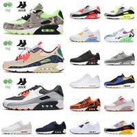 Top Fashion 90s Running Shoes Hommes Femme Camo Green Trail Team Team Gold Grey Dot Soyez VRAI City Pack Baskers Sneakers OG90 Taille 12