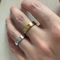 2021 никогда не исчезает классический 6 мм 18к розовое золото серебро 316L титановые стальные женщины мужчины свадебные кольца алмазные кольца любви для украшений