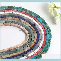 JewelryJewelry Bulguları Küp Taş Gevşek Boncuk 16 Renkler 5 * 1 M Küboid Boncuk DIY El Yapımı Strand Takı Yapımı Bilezik Kolye Küpe D