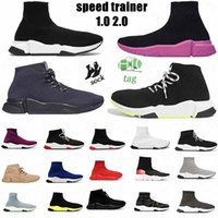chaussures hommes balenciaga balenciaca balanciaga 2021 spiridon caged Casual runner shoes Metallic Silver Lemon Venom Pistachio Frost speed womens mens trainers sports sneakers