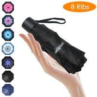 Prodigen Travel Mini-parapluie Eaufliner Éaufline UV Pliant Compact Parapluie Portable Soleil léger Pluie parapluies pour femmes et hommes 210223
