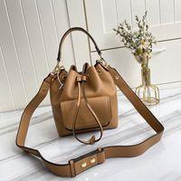 여성 양동이 가방 과립 송아지 크로스 바디 가방 숙녀 어깨 핸드백 조정 가능한 가죽 벨트 이동식 탑 핸들