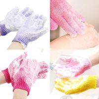 Sıcak Duş Banyo Eldiven Peeling Yıkama Cilt Spa Masaj Scrub Vücut Scrubber Eldiven 7 Renkler Yumuşak Mayo Eldiven Hediye Ücretsiz Kargo GWF5490