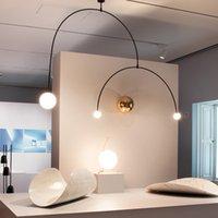 بعد الحديث هندسة الفن قلادة مصباح غرفة المعيشة غرفة المعيشة أضواء hanglamp مصمم الصمام الشمال الحديد خط لوفت ديكور موثوق