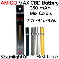 Original 380MAH AMIGO MAX MAX MAXT CARTIDGES PREAL DE CALENTE ITSUWA Precalentamiento de voltaje variable Carga ajustable Micro USB Cargado 510 Hilo Carrito