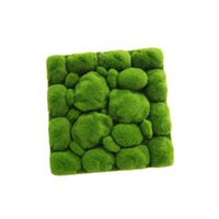 Decorative Flowers & Wreaths Artificial Moss Rocks Mat For El And Home Wall Decoration 1pcs 30x30cm