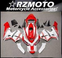 Molde de injeção Novo ABS Fairings Kits Fit para Honda CBR600RR F5 2003 2004 Bodywork Set Vermelho Branco