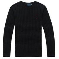 2021 New Mens 스웨터 크루 넥 마일 유선 폴로 망 클래식 스웨터 니트 코튼 레저 온기 스웨터 점퍼 풀오버 8colors