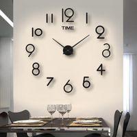 Wall Clocks 3D Large Clock Reloj De Pared DIY Quartz Watch Acrylic Mirror Stickers Horloge Murale Home Decor 2021 Modern Design