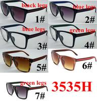 7 색 선글라스 여성 빈티지 브랜드 디자이너 광장 태양 안경 음영 여성 UV400 거리 패션 남자 여자 선글라스 10pcs