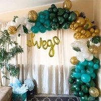 122 stücke grüne ballonone girlande kit tier bedruckt latex ballon dschungel safari thema party liefert favors geburtstag dekorationen