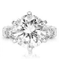 Choucong Brand Wedding Rings Luxury Jewelry 925 Sterling Silver Large Round Cut White Topaz CZ Diamond Party Gemstones Eternity Women Engagement Band Ring Gift