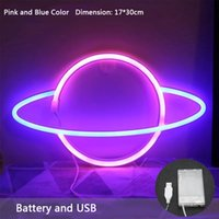 LED Neon Sign Light SMD2835 Indoor Lamp Planet Space Mixed Color For Lead Holiday Lighting Xmas Party Wedding Table Decorations EUB Night lights Garden Wall Lamps