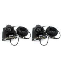 Araba Video 4 Pin Araç Yedekleme Kamera Uzatma / Genişletici Kablo, Su Geçirmez, 2 Paket (5 M / 16 Feet + 10m / 32 Feet), Siyah