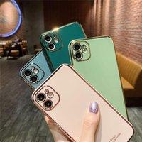 새로운 SE2020 고품질 도금 카메라 보호 아이폰 11 x 6 7 8에 대 한 블링 케이스