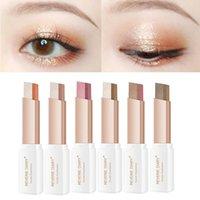Sombra de ojos Profesional 2 en 1 Doble color degradado Velvet Stick Maquillaje impermeable SHIMMER Duradero Sombra de ojos metálicos