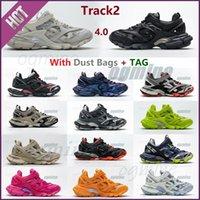 3.0 Tess S Track2 Corredores Shoe Hombre Pista de las mujeres 20SS 19FW Negro Plataforma de fondo grueso Deportes Casual zapatos zapatillas zapatillas de deporte 35-45 [no hay versión de lámpara] # 2021 #