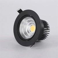Lâmpada de Dimmable do Downlight LED 12W 15W 20W 30W 40W COB COB LED AC 110V 220V Teto Recessado Downlights Luz do painel redondo