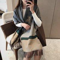 패션 디자이너 겨울 캐시미어 스카프 여성 2021 편지 실크 레이스 반지 럭셔리 스카프 180 * 65cm