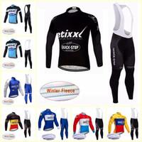 Paso rápido Equipo Ciclismo Invierno Termal Fleece Jersey Bib Pantalones Sets 2019 3D Gel Pad Cycling Sportswear transpirable Quick Seck U81524