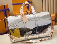 Designer Mens Overnight Bag Borsa Specchio Viaggio Rivestito Canvas Keepall Bandouliere 50 Borsone Borsone Borse GRANDE Borsa GRANDE Luggague per uomo