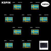 Rectangle National Flag Patch Crochet Boucle Suède Badges Badges Stick Stick sur Veste Sac à dos Stickers