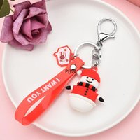 NEW Keychain & Keyring Christmas Snowman Reindeer House Jingle Bell Tree Wreath Stocking & Snowflake Enamel Jewelry Gifts LLE10306