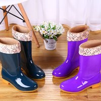 Long and Mid-Calf Length Non-Slip Waterproof Shoes Jelly Rain Boots Rain Boots Rubber Boots Rubber Shoes Shoe Cover Womens Adult Fashion Lon