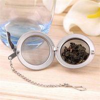 100 adet Teaware Paslanmaz Çelik Örgü Çay Topu Demlik Süzgeç Küre Kilitleme Baharat Çay Filtresi Filtrasyon Bitkisel Topu Kupası İçecek Araçları 4 S2