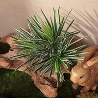 Guirnaldas de flores decorativas Plantas de plástico artificial Chlorophytum Branch Home Plantas Fake Pot Potted Mesa Decoración Indo Z6S7